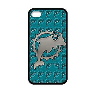 Custom Design With Nfl Miami Dolphins For Apple Iphone 4S 4 Th Abstract Back Phone Case For Boy Choose Design 5
