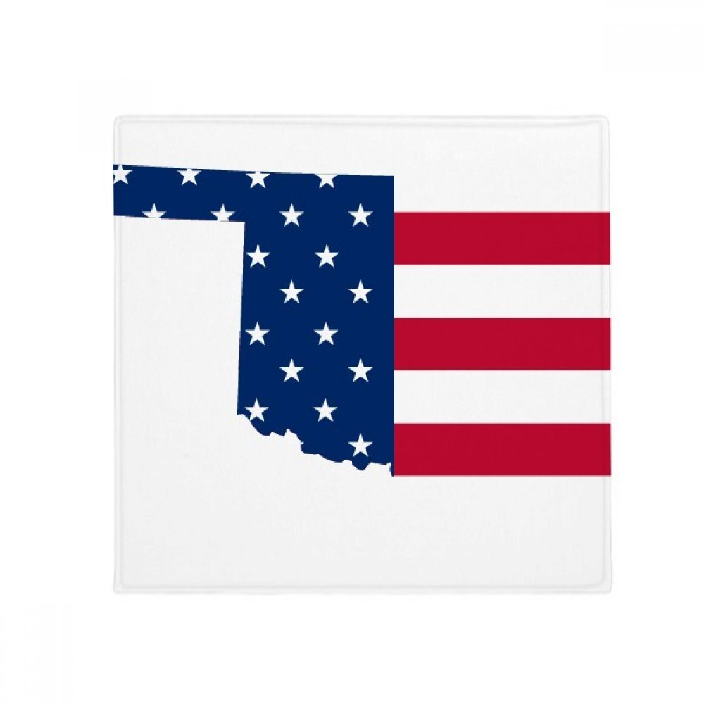 DIYthinker Oklahoma USA Map Stars Stripes Flag Shape Anti-Slip Floor Pet Mat Square Home Kitchen Door 80Cm Gift