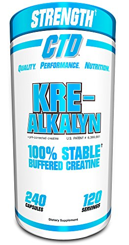 Pure Kre-Alkalyn Creatine Pills 240 Capsules, Best Selling Highly Rated Creatine Supplement (All American Kre Alkalyn)