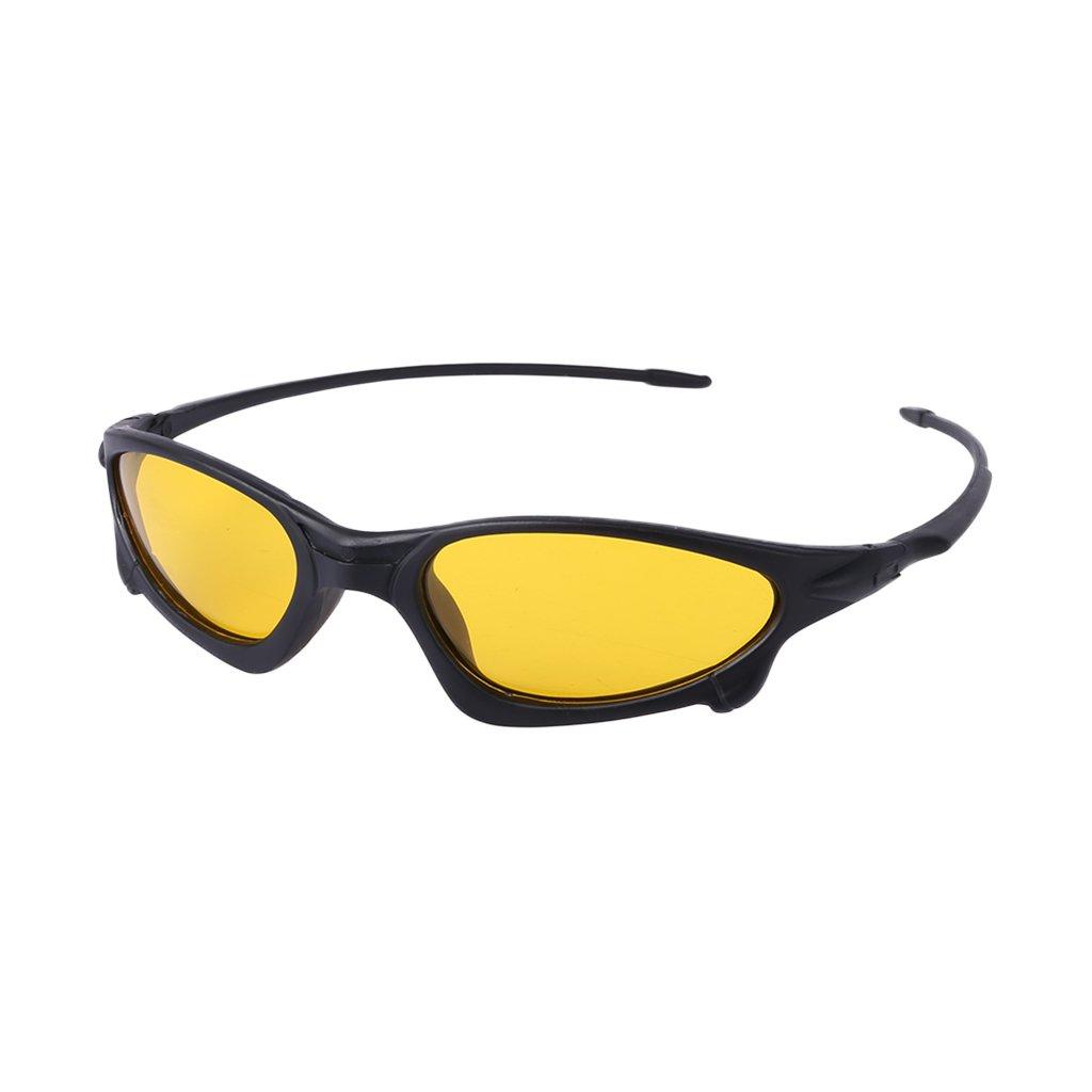 Hukai メンズ サイクリング サングラス 偏光ゴーグル 保護 スポーツ 釣り ナイトビジョン  イエロー B07G7371NS
