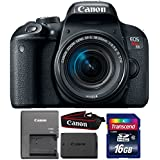 Canon EOS Rebel T7i 24.2MP DSLR Camera with 18-55mm IS STM Lens and 16GB Memory Card