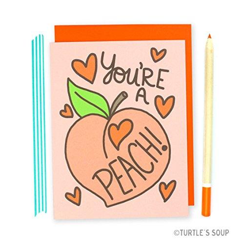 Invitation Best Friends (Peach Card, You're A Peach, Fruit Pun, Best Friend Card, Southern Belle, Card For Her, Birthday Card, Friendship, Peachy, Cute Love Cards)