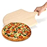 Wood Pizza Peel,12'' Pizza Paddle Board Tray Pizza Maker Cutting Board / Serving Tray for Homemade Pizza, Cheese and Charcuterie Boards