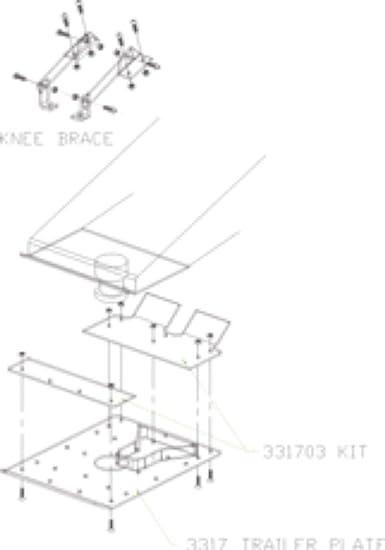 331758 Capture Plate Lippert Trailaire PULLIAM ENTERPRISES INC