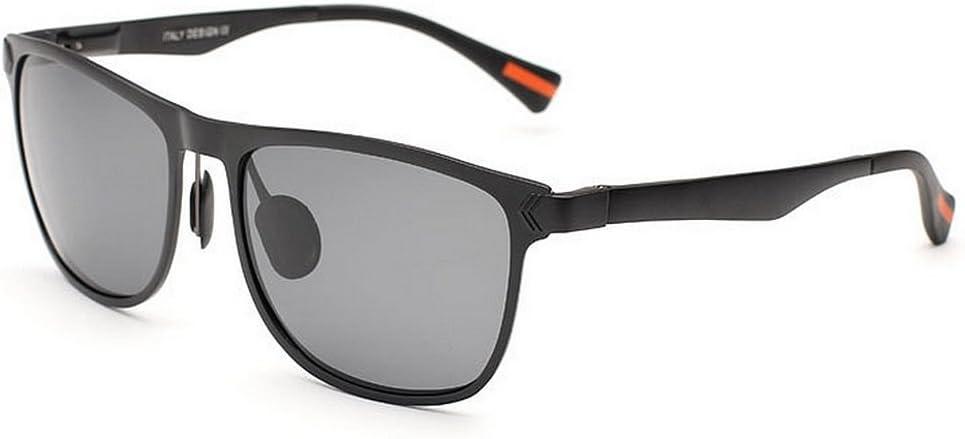 Sunglass Fashion Gafas de Sol polarizadas para Hombre con Marco de Aluminio y magnesio Vintage. Gafas de Sol de protección UV para Conducir. Regalo del día del Padre Viajero.