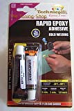 EPOXY ADHESIVE GLUE RAPID 5 MIN FOR metal wood glass plastic bricks concrete very strong NEW by Technicqll