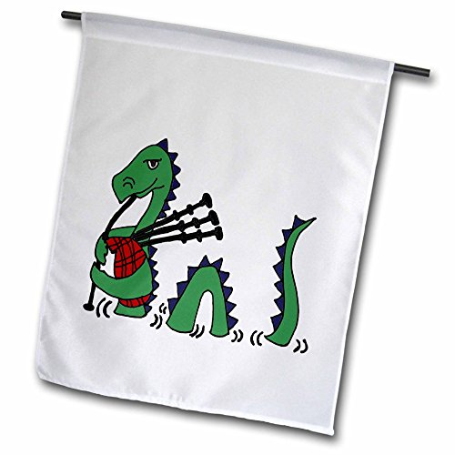 All Smiles Art Music – Funny Loch ness Monster Playing the Bagpipes – 18 x 27 inch Garden Flag (fl_200125_2) Review