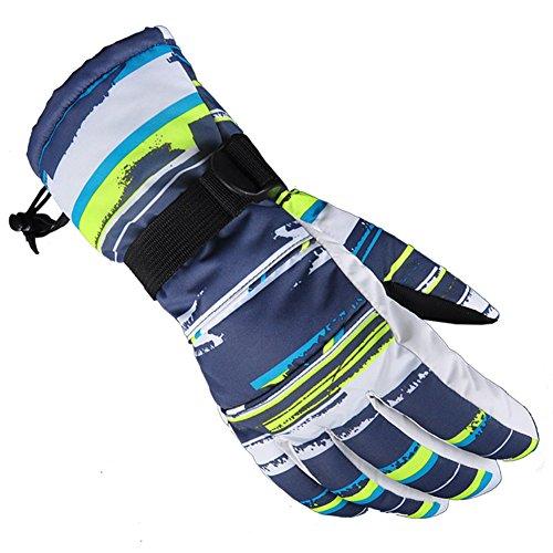 White Mens Snowboard Glove (KARRESLY Waterproof Warmest Winter Snow Skiing Snowboarding Snowmobile Ski Gloves for Mens, Womens, Boys, Girls, Kids(White-XL))