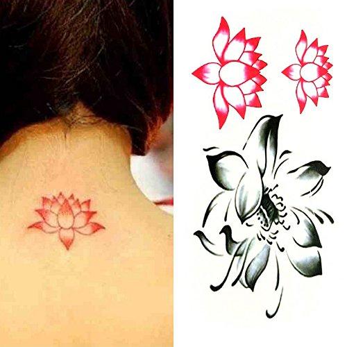 Amazoncom Oottati Small Cute Temporary Tattoo Lotus Lotus Flower