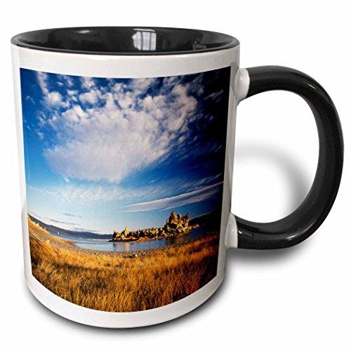 (3dRose Danita Delimont - Rock Formations - Tufa rock formation, Mono Lake, California, USA - US05 SSM0073 - Scott T. Smith - 15oz Two-Tone Black Mug (mug_142826_9))