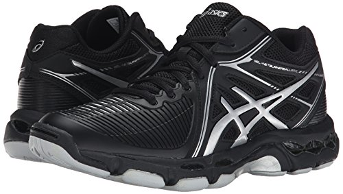 ASICS Women's Gel Netburner Ballistic MT Volleyball Shoe, Black/Silver, 7 M US by ASICS (Image #6)