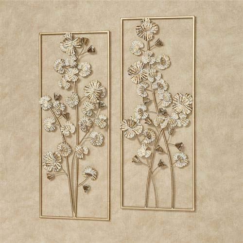 - Oralie Orchids Wall Art Gold Set of Two