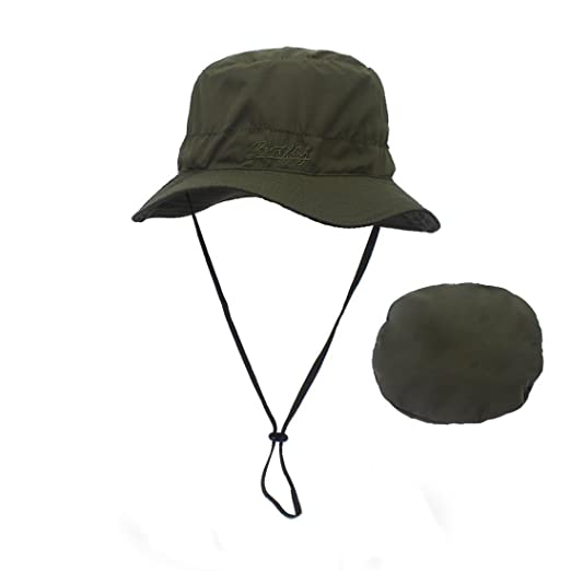 204e674e1b0 Outdoor Bucket Hats for Women Adjustable Fishing Hat Boonie Breathable Sun  Hats Foldable Hat with Wide