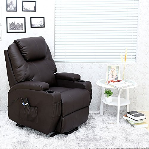 More4Homes CINEMO ELECTRIC RISE RECLINER MASSAGE HEAT ARMCHAIR SOFA LOUNGE...