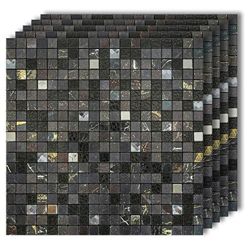 HomeyMosaic Peel and Stick Tile Backsplash for Kitchen Wall Decor Aluminum Surface -