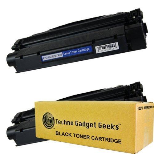 Techno Gadget Geeks 2 Pack X-25 8489A001AA Toner Cartridge Fits Canon ImageClass MF3110 MF3111 MF3240 MF5500 MF5530 MF5550 MF5630 MF5650 MF5730 MF5750 MF5770 LaserBase MF3220 MF3240 MF5630 MF5650 LaserShot LBP-3200 LBP-300LDA LBP-300LDF LBP-300N LBP-3200  by Techno Gadget Geeks