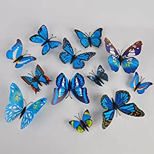 sticker art design decal wall stickers home decor room decorations 3d butterfly. Black Bedroom Furniture Sets. Home Design Ideas