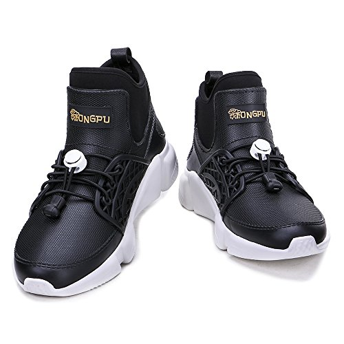 Tongpu Zapatillas Estilo Lluvia Para Mujer Slip On Waterproof Botas Negras