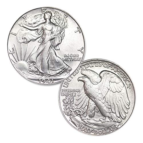 1941 S Walking Liberty Half Dollar 50C Brilliant ()