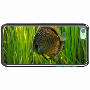 iPhone 5C Black Hardshell Case fish form Desin Images Protector Back Cover