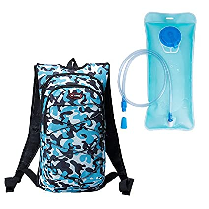 bc7f6806a95 Buy Generic LAKE BLUE : HOTSPEED 12L Ultralight Cycling Pouch Backpack with  2L Water Bag Sports Running Bag Pouch Water Bags Saco de Agua Waterzak  Rugza ...
