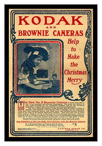(Iron Ons 8 x 10 Photo Kodak Brownie Camera Vintage Old Advertising Campaign Ads)