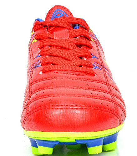 99c271b80 DREAM PAIRS 160471-M Men s Sport Flexible Athletic Lace Up Light Weight  Outdoor Cleats Football Soccer Shoes RED-ROYAL-L.GRN SIZE 8