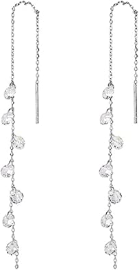 925 Sterling Silver Long Dangle Earrings With Airplane for Women Girl Kids Hypoallergenic Nickel Free