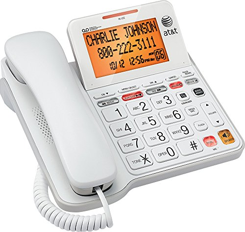 AT&T Big Button Phone with Tilt Display Large Print Caller ID and Answering System ()