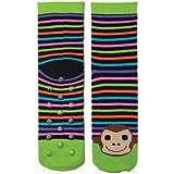 Monkey Black Tubular Novelty Socks  W/Stripes
