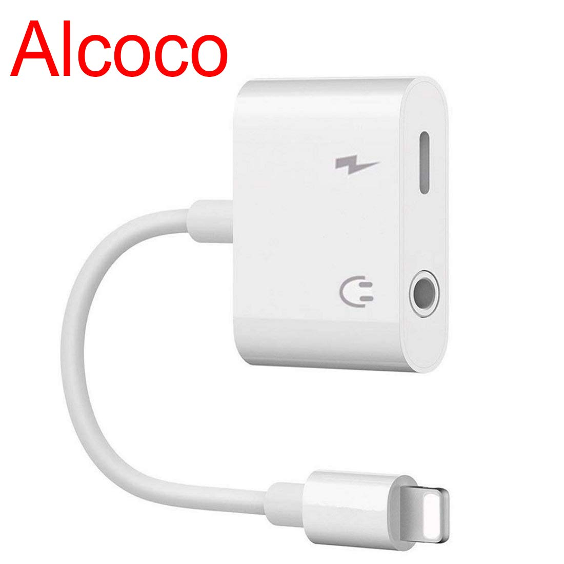 Headphone Adapter for iPhone 8 3.5mm Splitter Jack Dongle Earphone Cable Charge and Aux Audio Connector for iPhone X//Xs//XS max//8//8 Plus//7//7 Plus 2 in 1 Headphone for Music and Charge Support iOS 12 Alcoco