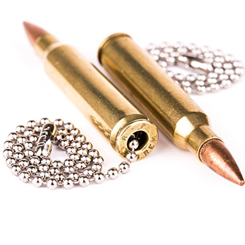 Ceiling Fan Chain Pull (Real .223 Caliber Bullet Light Fan Pulls Chain Made in the USA - Set of 2)