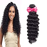 Ms Love Hair Brazilian Deep Wave Virgin Hair Unprocessed Human Hair Extension 1 Bundles Natural Color (100+/-5g)/Pc (Beautiful Natural Curl) (10) Review