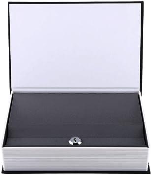 Caja de seguridad para libros secretos con caja fuerte de simulación de libro negro con 2 llaves para dormitorio (24 x 15,5 x 5,5 cm, llave negra mediana): Amazon.es: Bricolaje y herramientas