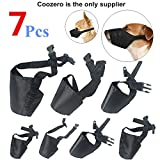 Dog Muzzles Suit, 7 PCS Anti-Biting Barking Muzzles Adjustable Dog Mouth Cover for Small Medium Large Extra Dog