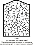 Arch Stained Glass Rubber Stamp By DRS Designs