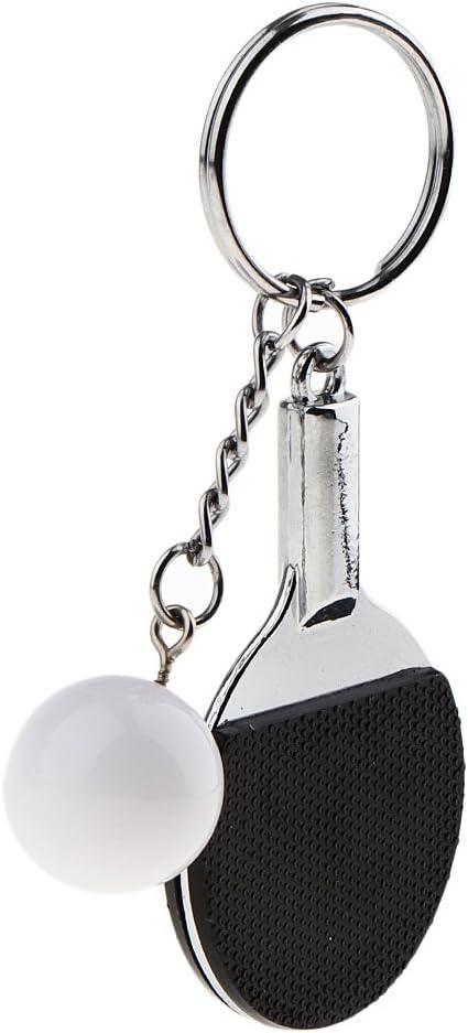 1 Unidad de Llavero Mini Tenis de Mesa de Coche 3D de Estilo Herrmaienta Durable de Usar - Negro