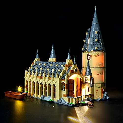 Briksmax Harry Potter Hogwarts Great Hall Led Lighting Kit- Compatible with Lego 75954 Building Blocks Model- Not Include The Lego Set (Harry Potter Halls Of Hogwarts Board Game)