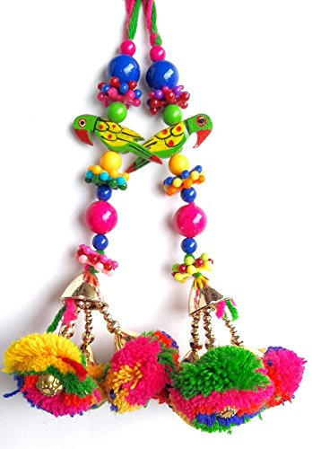 Latkans Beaded Blouse Decorative Keychain Tassels Supply Crafting 1 Pair by art indo