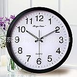 AYYA Creative wall clock wall clock creative radio wall clock metal black