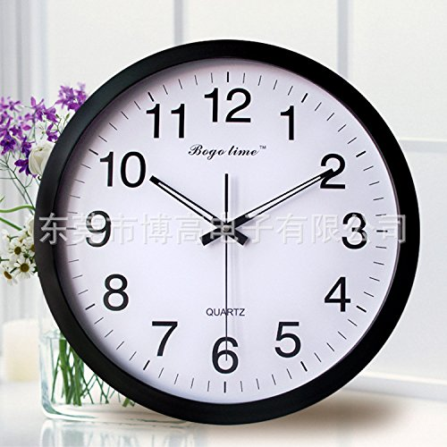AYYA Creative wall clock wall clock creative radio wall clock metal black by AYYA
