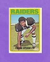 Gene Upshaw 1972 Topps Football Rookie Card (Oakland Raiders)
