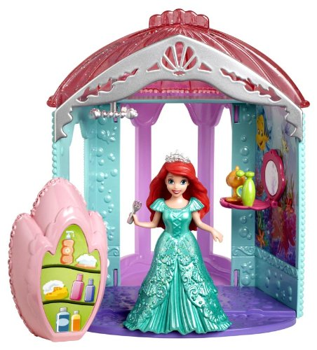 Disney Princess Little Kingdom Magiclip Ariel's Room Playset by Mattel
