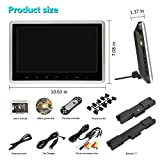 Car DVD Player with Wireless Headphones, 10.1