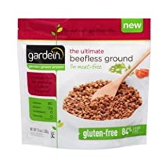 Gardein The Ultimate Beefless Ground, 13.7 Ounce -- 8 per case. Gluten free with 87 Percent less fat than regular ground beef now thats a beefless wonder. Country of Origin: Canada