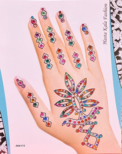Bridal Wedding Collection of Henna Stickers (Earth Tattoo Henna)