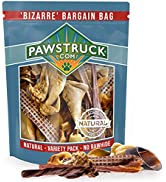 Bizarre Bargain Bag, 1 lb. Assorted Natural Dog Treats, Long Lasting Chews for All Breeds, Animal...
