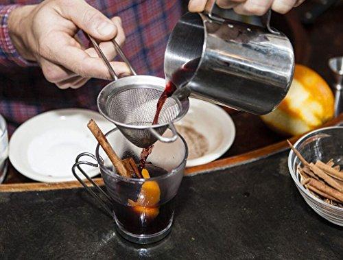 Bormioli Rocco Oslo Cappuccino Glass Cups 4 Set 7.5 Oz | Tempered Glass, Ergonomic Stainless Steel Handles, Dishwasher Safe | For Coffee Drinks, Beverages, Latte, Macchiato, Espresso, Mocha & More