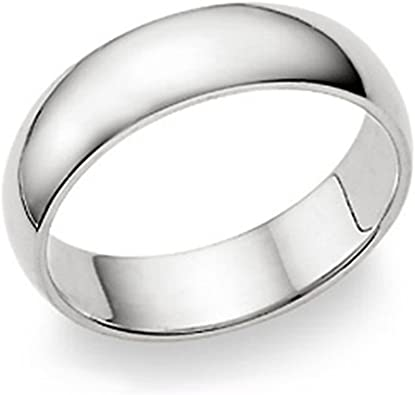 VENTES!! 6 mm 925 Sterling Silver Plain Wedding Band Solide Comfort Fit Ring