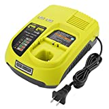 Energup P117 Dual Chemistry IntelliPort Charger Li-ion Ni-cad Ni-Mh Battery Charger 12V and 18V MAX for Ryobi ONE Plus P117 P118 for Ryobi 18V One+ Plus Battery P100 P102 P103 P105 P107 P108